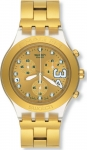 Swatch Uhr SHAQ 34 GOLD Irony Diaphane SHAQ34 Chrono SVCK4008G